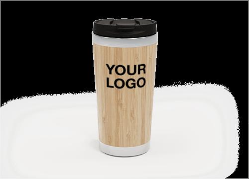 EcoSip - Printed Bamboo Travel Mugs