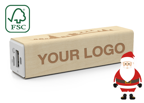 Maple Christmas - Personalised Portable Charger